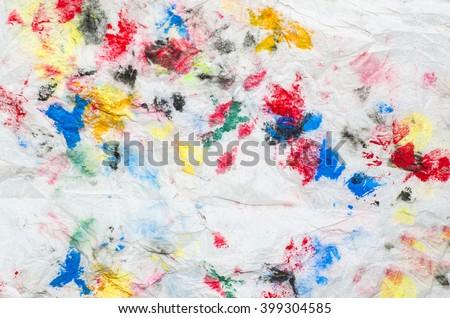 Abstract art in water and poster colors on white paper / Abstract background / Modern and stylish free form abstracts ideal for promoting children stuffs - stock photo