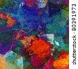 abstract art - mixed media grunge - stock photo