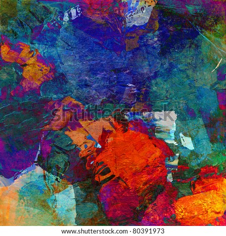 abstract art - mixed media grunge - stock photo