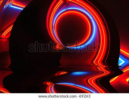 Abstract art - Neon sign
