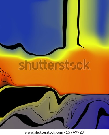 Abstract art of a power plant, ozone destruction - stock photo