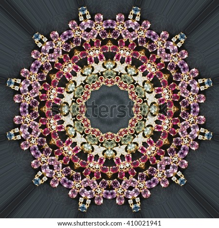 Abstract art of gem ornament texture.