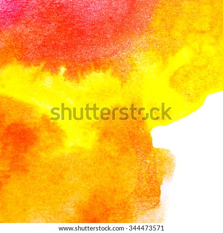 Abstract art oil paint. Brush strokes are on canvas closeup. Design elements. Color conversions. Yellow, orange. - stock photo