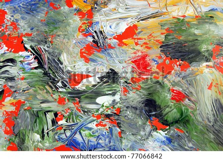 Abstract Art . Painted background texture