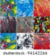 Abstract art . Painting collage - stock photo