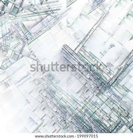 Abstract Art Reminiscent of City Blocks - stock photo