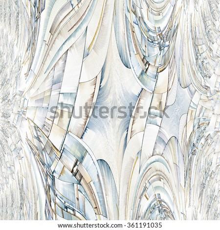 Abstract Art Reminiscent of City Blocks - stock photo