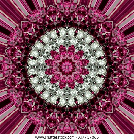 Abstract art ruby gem ornament texture.