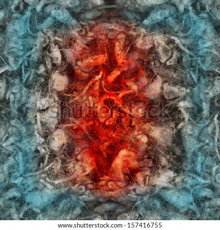 Abstract art texture background in style of surrealism - stock photo