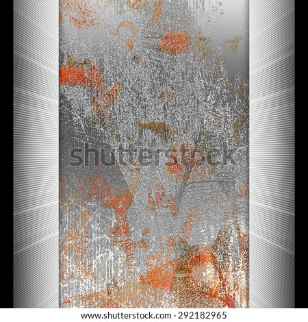 Abstract art work with orange spots - stock photo