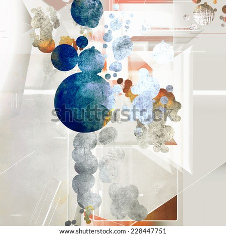 Abstract artistic element forming by blots - stock photo