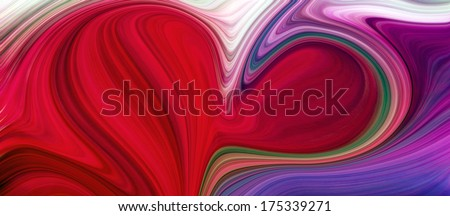 Abstract artistic illustration background texture of heart with vivid light red, blue, green, orange, yellow, violet, lilac natural color; bright beauty romantic decor card, gift of glossy motion blur - stock photo