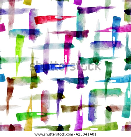 Abstract artistic seamless pattern design with random colorful brush strokes, repeating background, elegant surface pattern for web and print purposes - stock photo