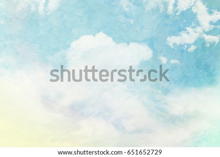Abstract artistic textured clouds and sky with grunge texture.