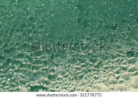 Abstract arts with water droplets background / Water droplets / Creativity with water as the medium - stock photo