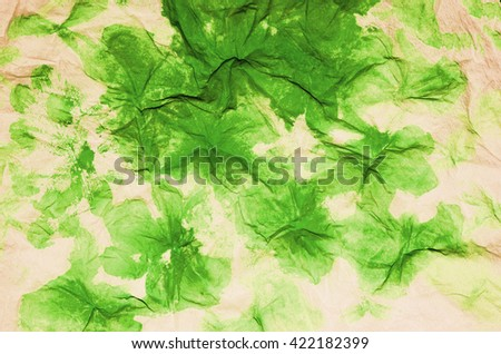 Abstract artwork with watercolor and creased paper / Abstract background / Flowers and floral like pattern created by hand - stock photo