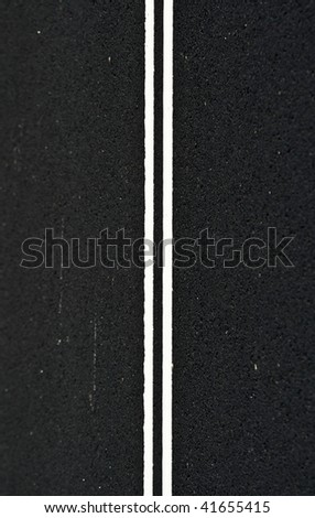 Abstract Asphalt Road Stripe - stock photo