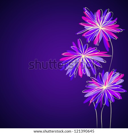 abstract asters, raster
