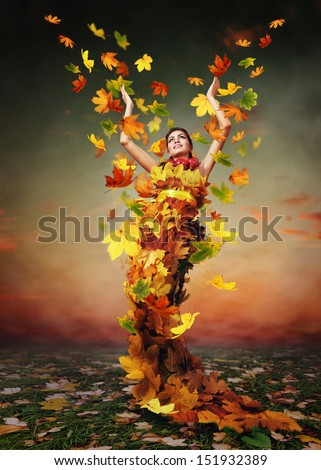 Abstract autumn image. Triumph by Lady Autumn  - stock photo