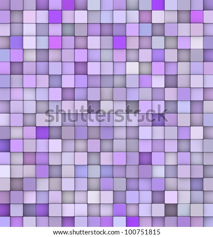 abstract backdrop 3d render cubes in different shades of purple - stock photo