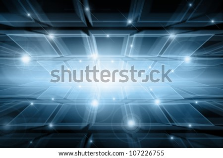 Abstract  background. Abstract blue business science or technology background - stock photo