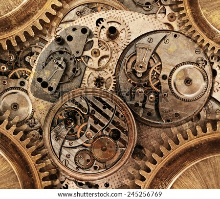 Abstract background. Abstract stylized collage of a mechanical device - stock photo
