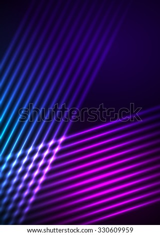 Abstract background advertising brochure design elements. Futuristic style glow neon disco club, night party for elegant flyer. illustration  for layout page newsletters, vertical banner - stock photo