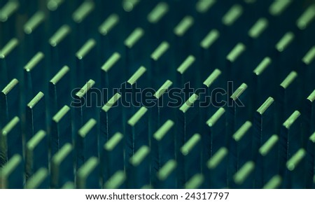 Abstract background - aluminium radiator system cooling of the chip - stock photo