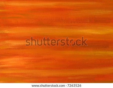 Abstract background - An orange oil painted canvas - stock photo