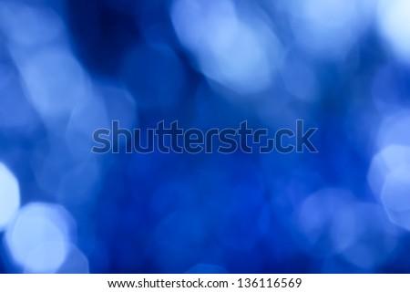 abstract background. beautiful blue bokeh - stock photo