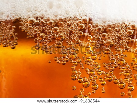 abstract background beverage and bubbles - stock photo