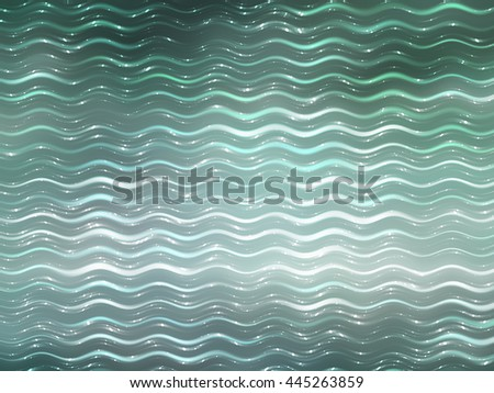 abstract background. blue and green background with waves and stars