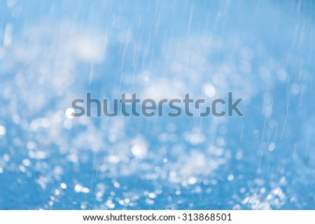Abstract background blue bokeh for christmas background - stock photo