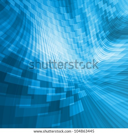 abstract background, blue perspective - stock photo