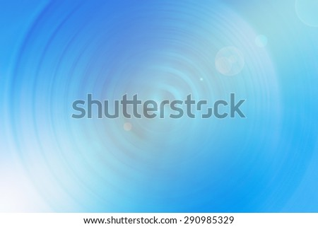 Abstract background blue spin circle radial motion blur