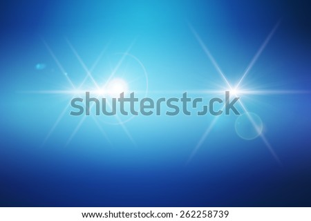 Abstract Background blue star Lighting Reflecting - stock photo