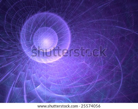 Abstract background. Blue - violet palette. Raster fractal graphics.