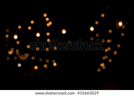 abstract background. blur bokeh. Vintage, Light from the lamp at night.