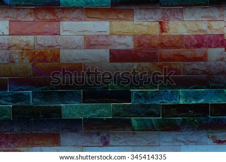 Abstract background blur, Colorful of stone wall texture background, The colorful stone walls.