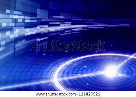 Abstract background - bright light in night - stock photo