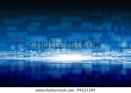 Abstract background - bright light, rows of rectangles and circles - stock photo