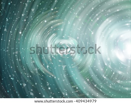 Abstract background. Brilliant green and blue circles for background