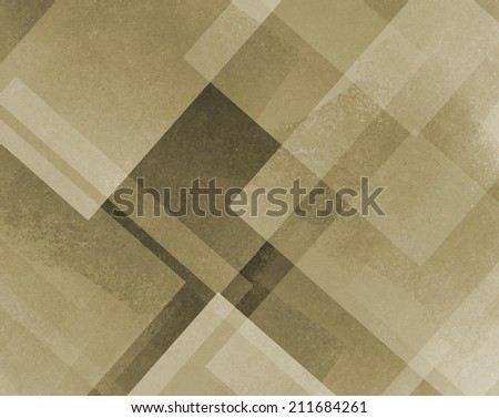 abstract background brown and beige square and diamond shaped transparent layers in diagonal pattern background - stock photo