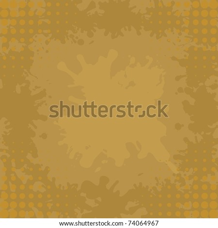 Abstract background, brown coffee stains and blots - stock photo