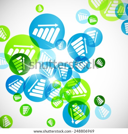 abstract background: chart - stock photo