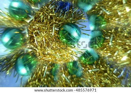 Abstract background, Christmas tree decoration