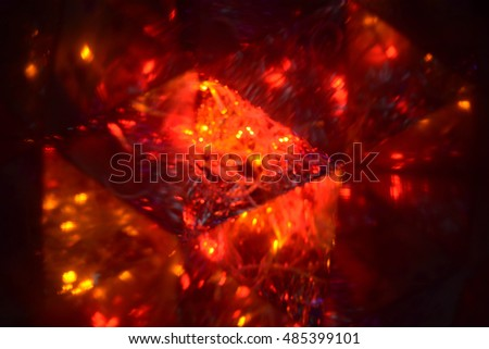 Abstract background, Christmas tree decoration, lights