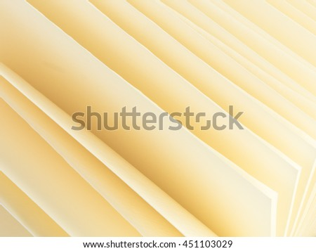 Abstract background clean paper sheets of yellow color - stock photo