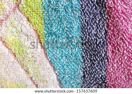 Abstract background. Color towel macro texture.