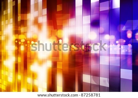 Abstract background - colorful rectangles looks like shiny windows of big house